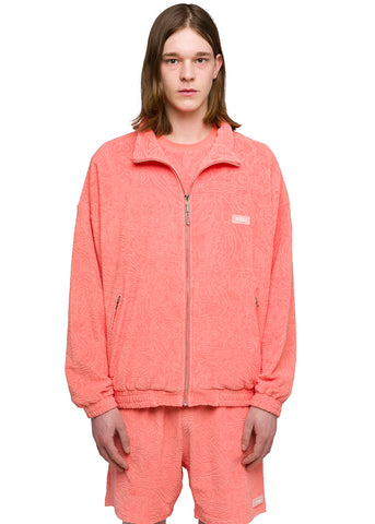 "032c Système de la Mode ""Topos"" Shaved Terry Jacket Coral"