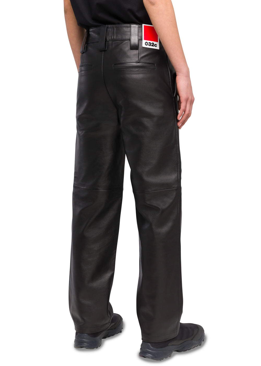 032c Système de la Mode Leather Work Pants