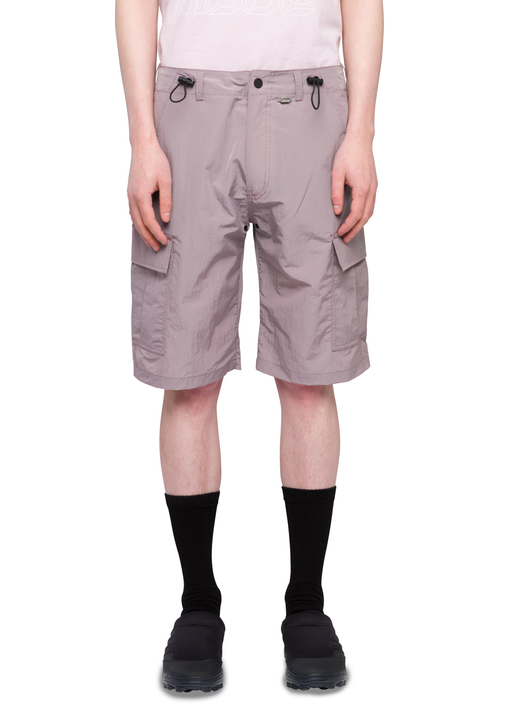"032c Système de la Mode ""Heat Patch"" Nylon Cargo Shorts Rose Grey"