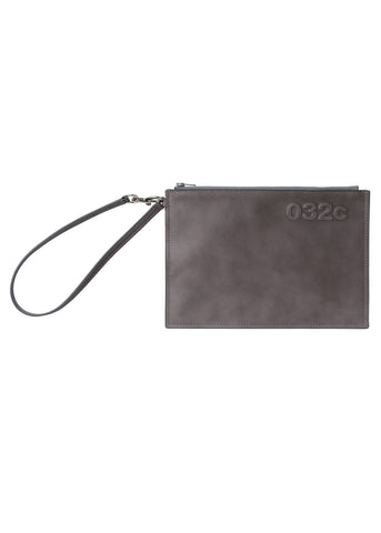 "032c Système de la Mode Leather ""Ghost"" Pouch"