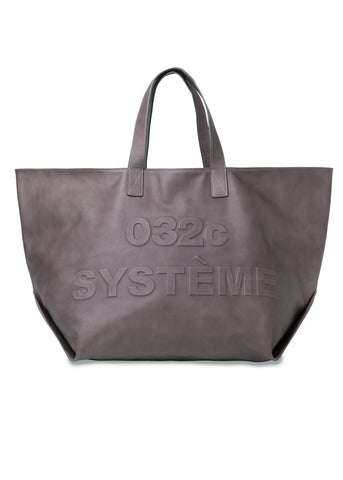 "032c Système de la Mode Leather ""Ghost"" XL Shopper"