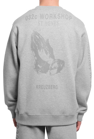032c Religious Services Sweatshirt 3M Heather - 032c