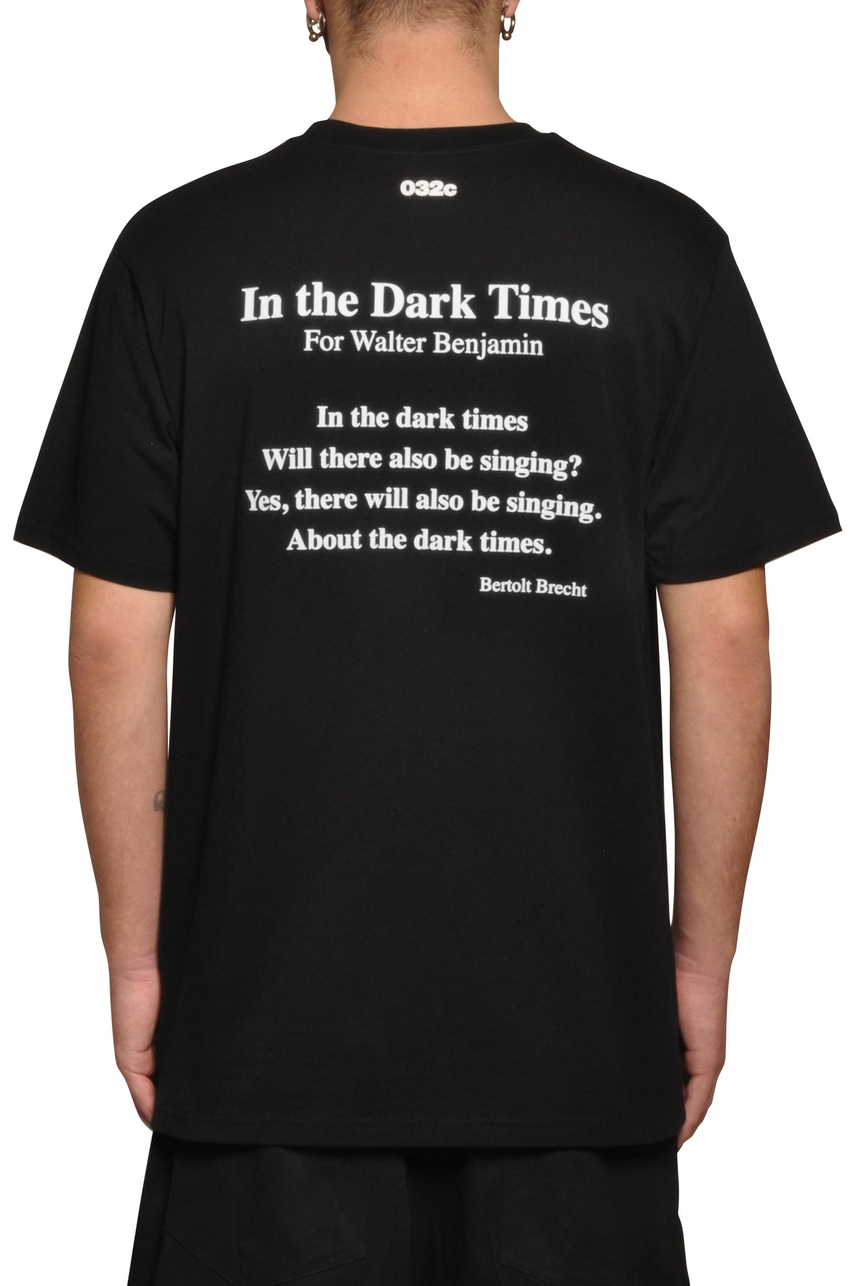 "032c ""Dark Times"" Brecht T-Shirt Black - 032c"