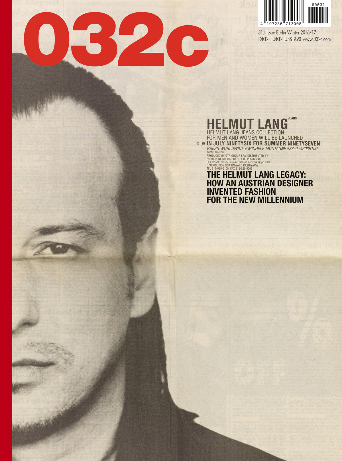Issue #31 — Winter 2016/2017: HELMUT LANG - 032c