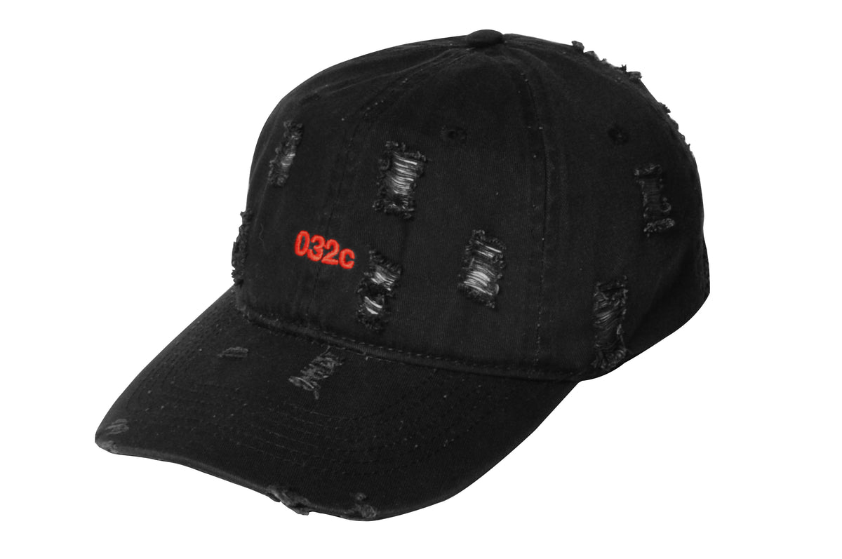 032c COSMIC WORKSHOP 'Destroyed' Cap Black 2.0 - 032c