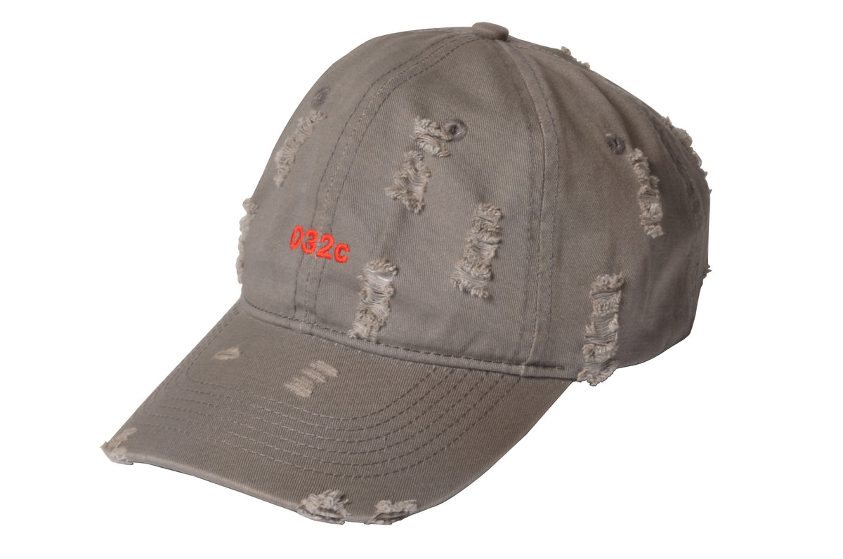 032c COSMIC WORKSHOP 'Destroyed' Cap Grey 2.0 - 032c