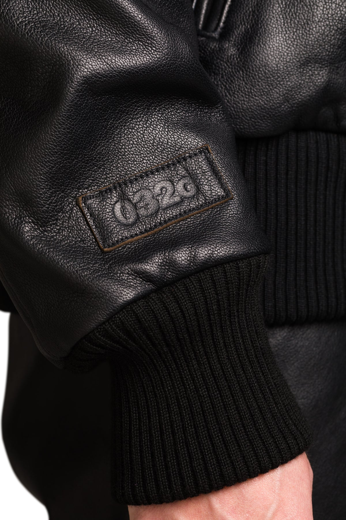 "032c ""Tief"" Leather Flight Jacket"