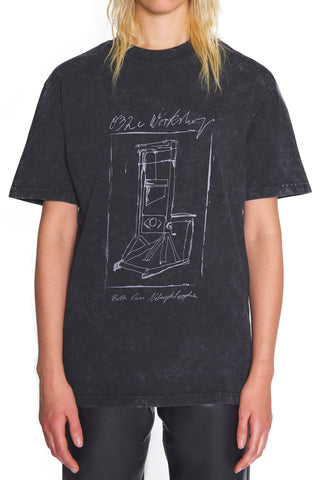 "032c Die Tödliche Doris ""Guillotine"" T-Shirt Dark Grey"