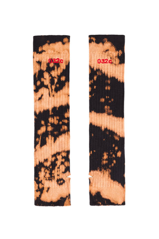 "032c Die Tödliche Doris ""Heartfield"" Arm Warmer Bleached Black"