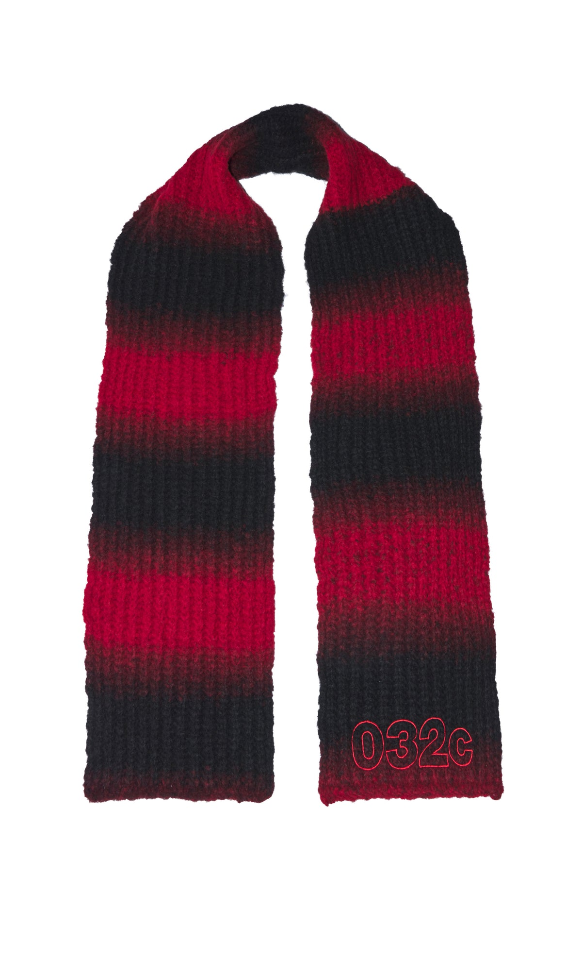 "032c Die Tödliche Doris ""Pixel"" Scarf Red and Black"