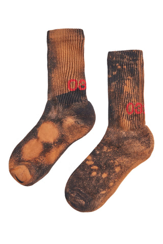 032c Socks Bleached Black