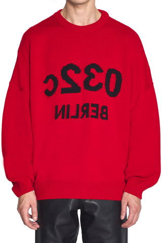 "032c ""Selfie"" Knit Pullover Red"
