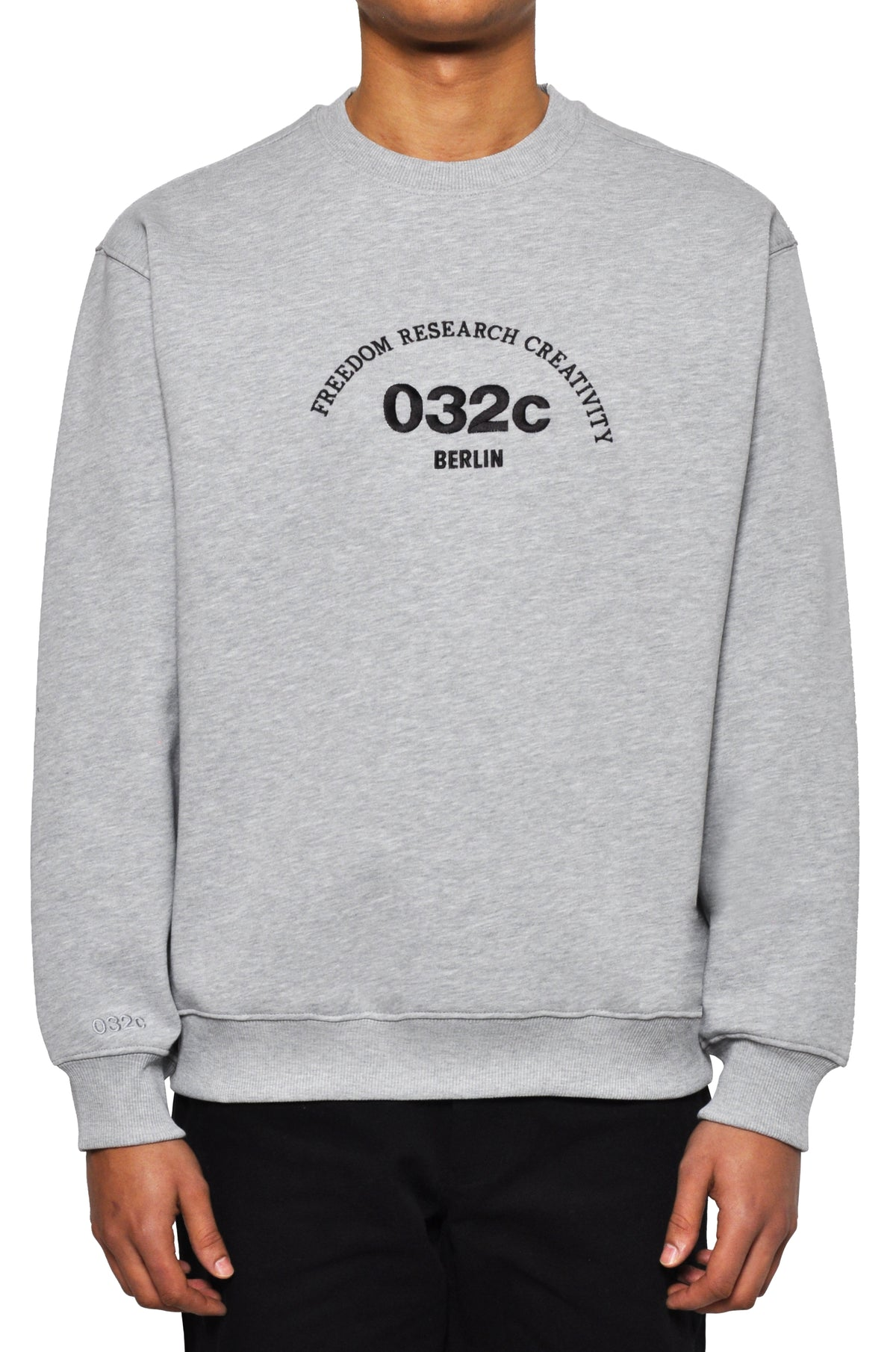 "032c LoveSexDreams ""Team Société"" Crewneck Heather Grey - 032c"