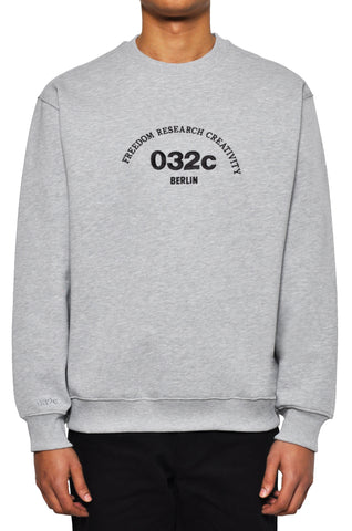 "032c LoveSexDreams ""Team Société"" Crewneck Heather Grey"