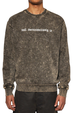"032c LoveSexDreams ""null zweiunddreißig ce"" Crewneck Acid Wash Brown"