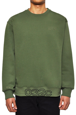 "032c LoveSexDreams ""032c Workshop"" Crewneck Olive - 032c"