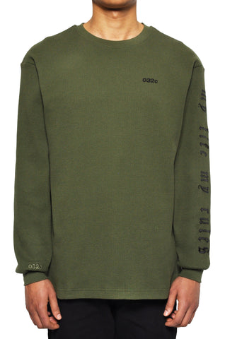 "032c LoveSexDreams ""My Life My Rules"" Longsleeve Olive - 032c"