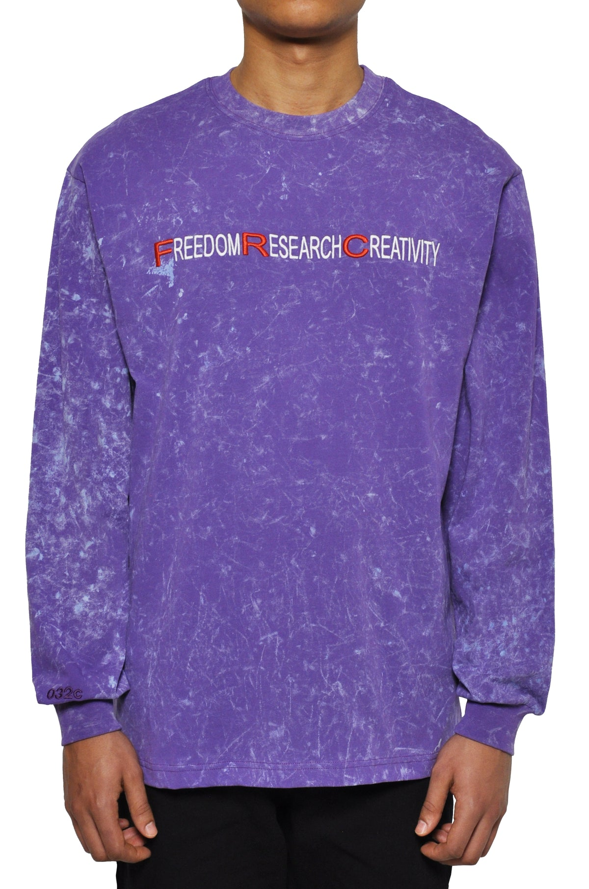 "032c LoveSexDreams ""Freed0m"" Longsleeve Acid Wash Purple - 032c"