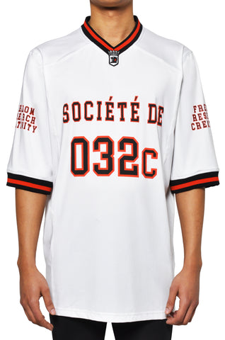 "032c LoveSexDreams ""Team Société"" Football Jersey White - 032c"