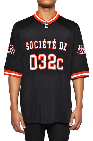 "032c LoveSexDreams ""Team Société"" Football Jersey Black - 032c"
