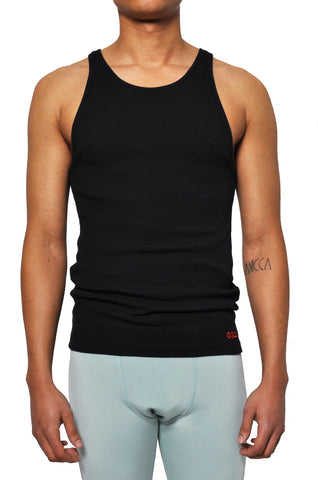 032c LoveSexDreams Ribbed Tank Black - 032c