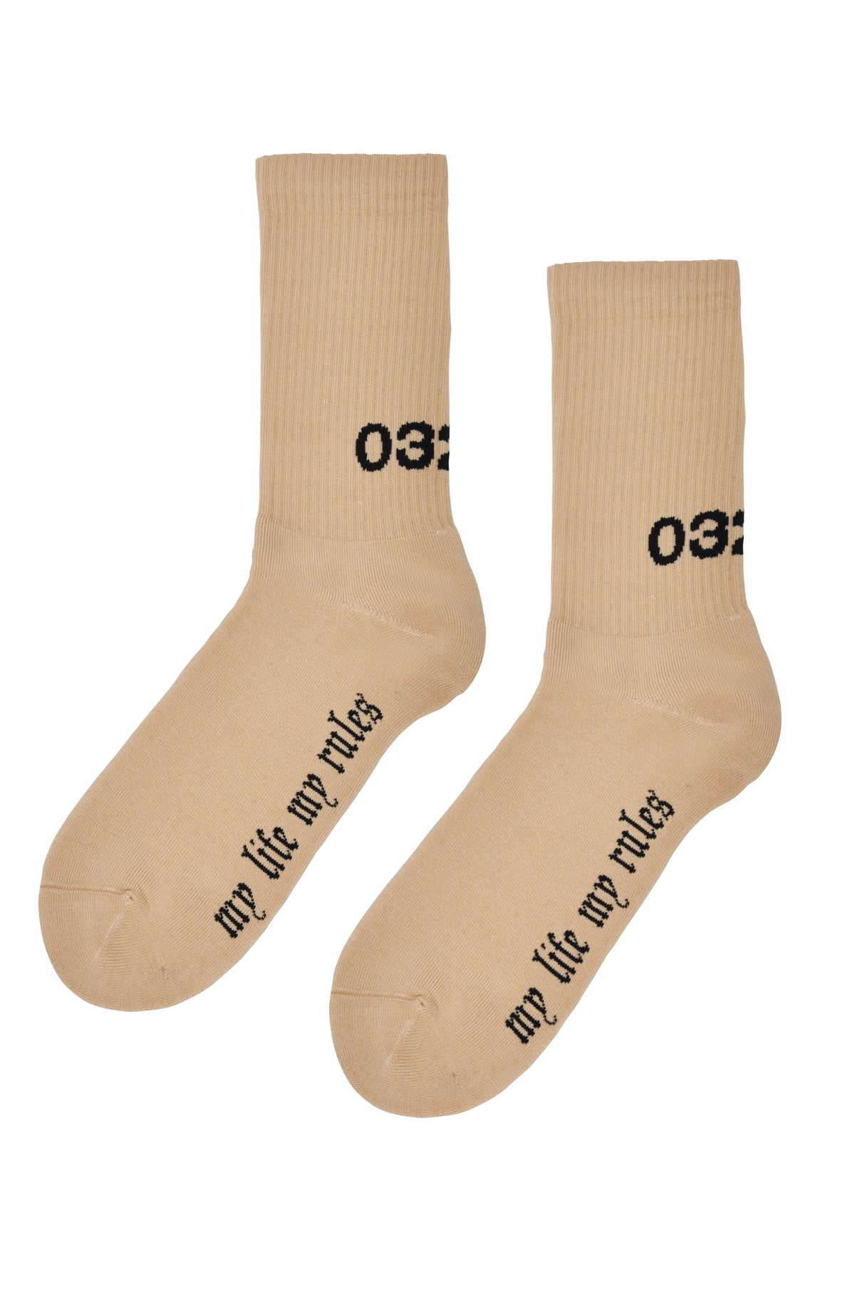 "032c LoveSexDreams ""My Life My Rules"" Socks Nude - 032c"