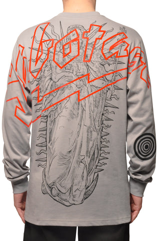 "032c COSMIC WORKSHOP ""Maria"" Longsleeve Grey - 032c"