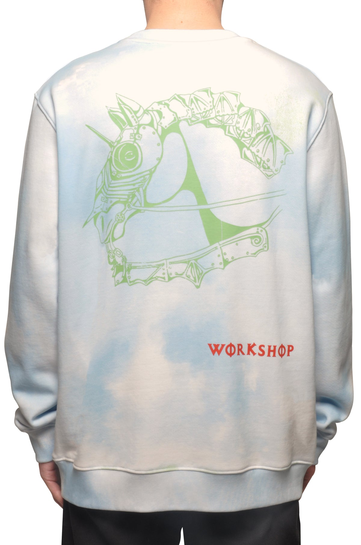 032c COSMIC WORKSHOP 'Bard' Sweatshirt Powder Blue - 032c
