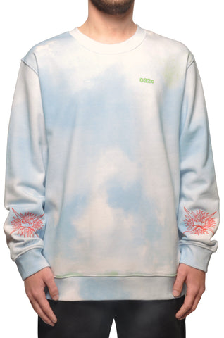 "032c COSMIC WORKSHOP ""Bard"" Sweatshirt Powder Blue - 032c"