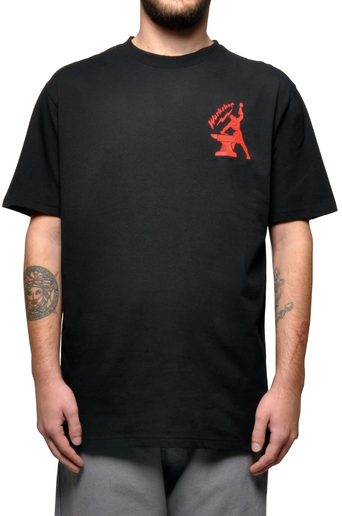 032c COSMIC WORKSHOP 'Hammer' T-Shirt Black - 032c