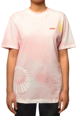 032c COSMIC WORKSHOP 'Upper' T-Shirt in Pink - 032c
