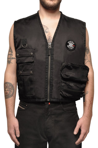 "032c COSMIC WORKSHOP ""Rock Bottom"" Vest Black - 032c"