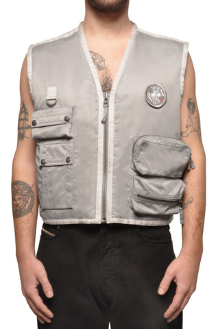 "032c COSMIC WORKSHOP ""Rock Bottom"" Vest Grey - 032c"