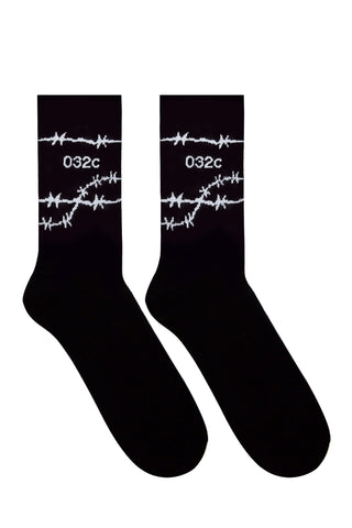 032c Barbed Wire Socks Black/White - 032c