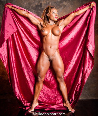 CASSANDRA FLOYD DOWNLOAD - Nude With Red Satin Sheet