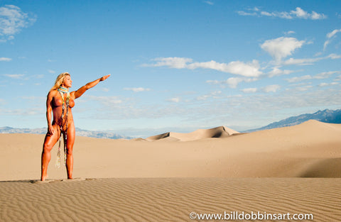 VIVIANA SOLDANO NUDE DESERT PRINT - A salute to the glory of nature in the Death Valley/