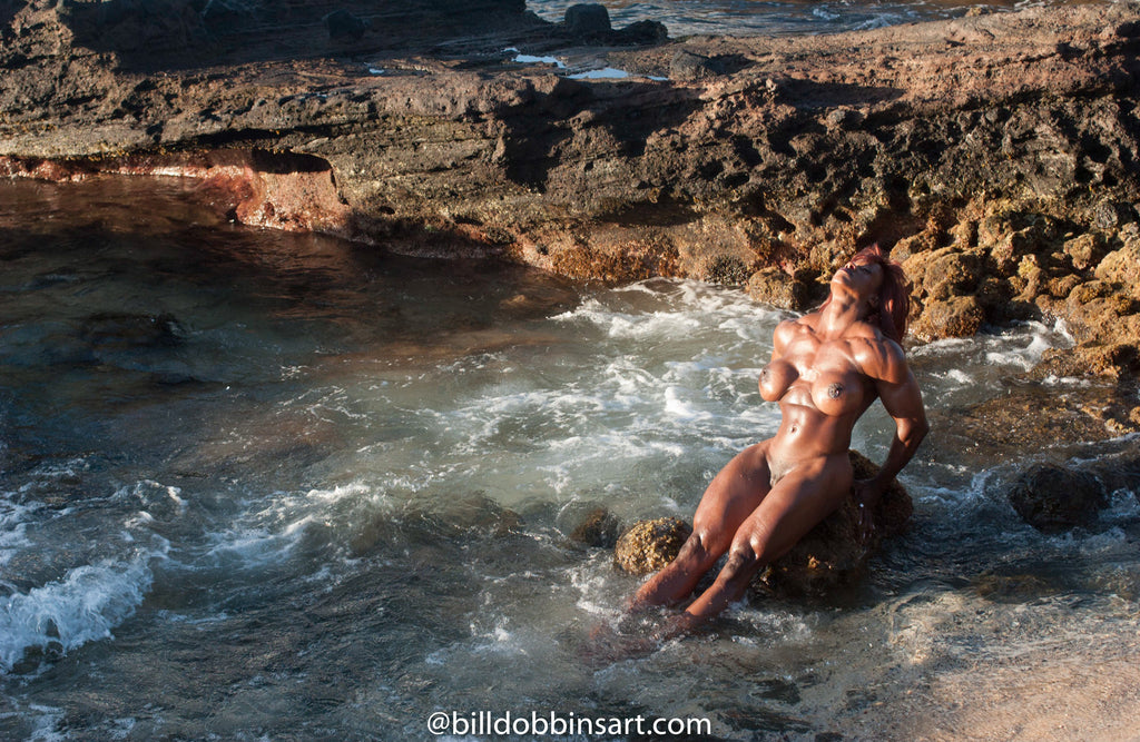 YVETTE BOVA DOWNLOAD - Nude among Hawaiian lava rocks.