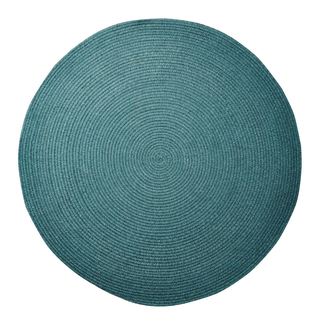 Marlow Round Rug - Dark Teal - Sage and Clare - Greenhouse Interiors - 1