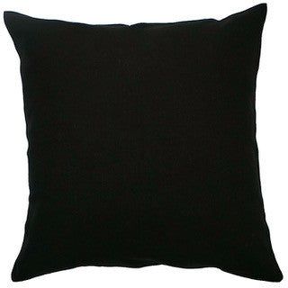 BLANK CANVAS linen cushion - black