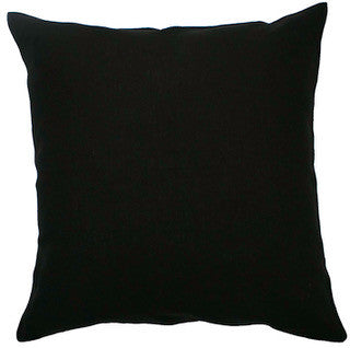 BLANK CANVAS linen cushion (with insert) - black