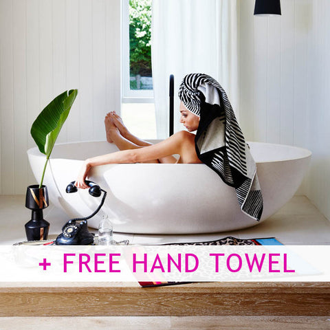 Black Diamond Towels + FREE Hand Towel