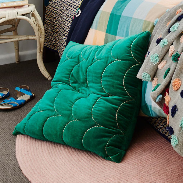 Bettina Velvet Sham - Emerald