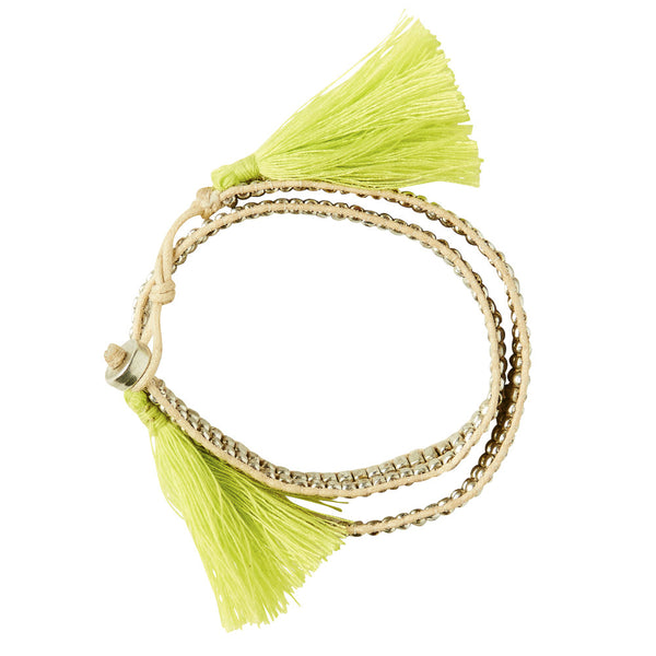 Bahia Wraparound Bracelet - Natural - Sage and Clare - Greenhouse Interiors