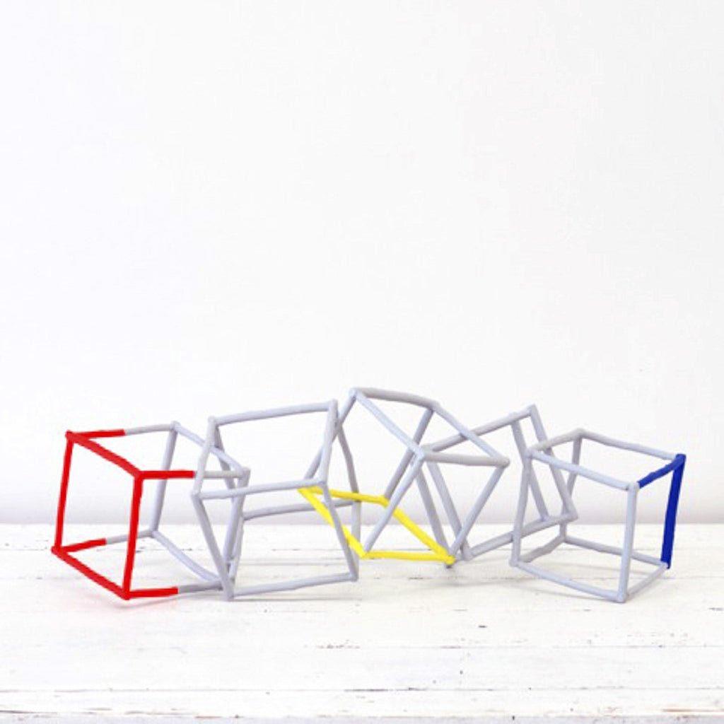 Cube Sculpture X 5 Cubes - Twiggargerie - Greenhouse Interiors