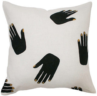 HANDS OFF linen cushion (with insert) - off white