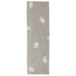 HANDS OFF linen table runner - oatmeal