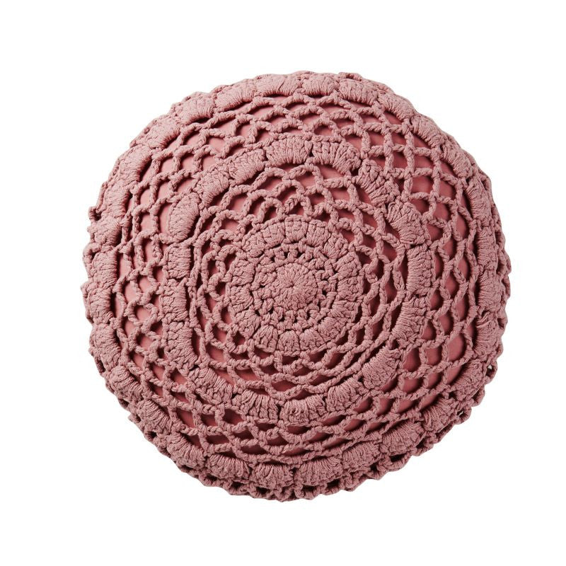 Nancy Crochet Cushion - Mauve