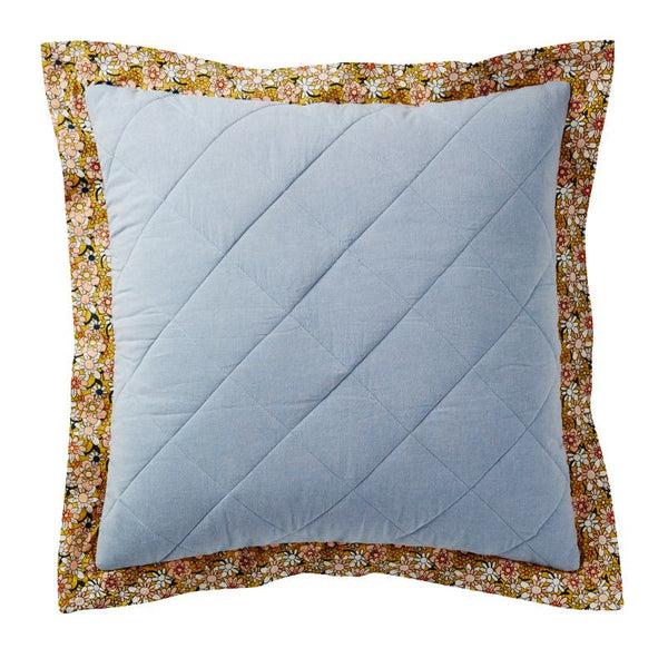 Lyla Quilted Chambray Cushion