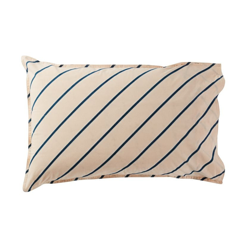 Marita Stripe Pillowcase - Coral (sold separately)