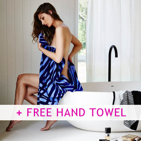 Peace Palm Towels + FREE Hand Towel